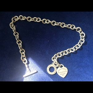 Tiffany and Co heart shaped toggle necklace